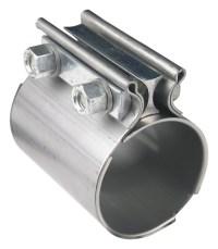 """2.50"""" Torca Coupler Exhaust Sleeve Butt Joint Clamp, 409"""