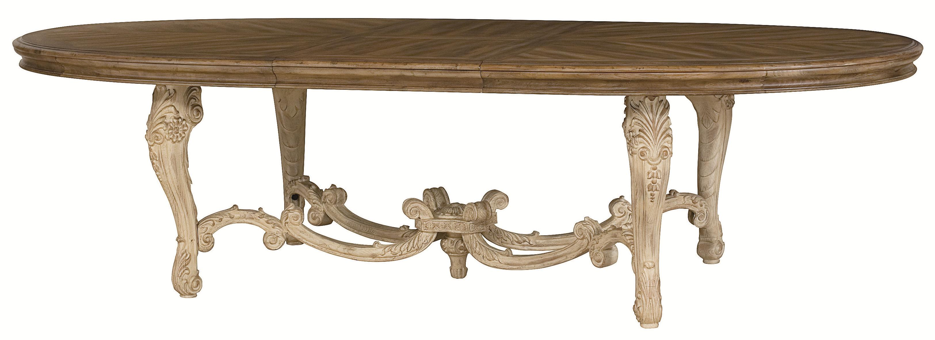 oval kitchen table Oval Dining Table with Carved Legs Stretchers