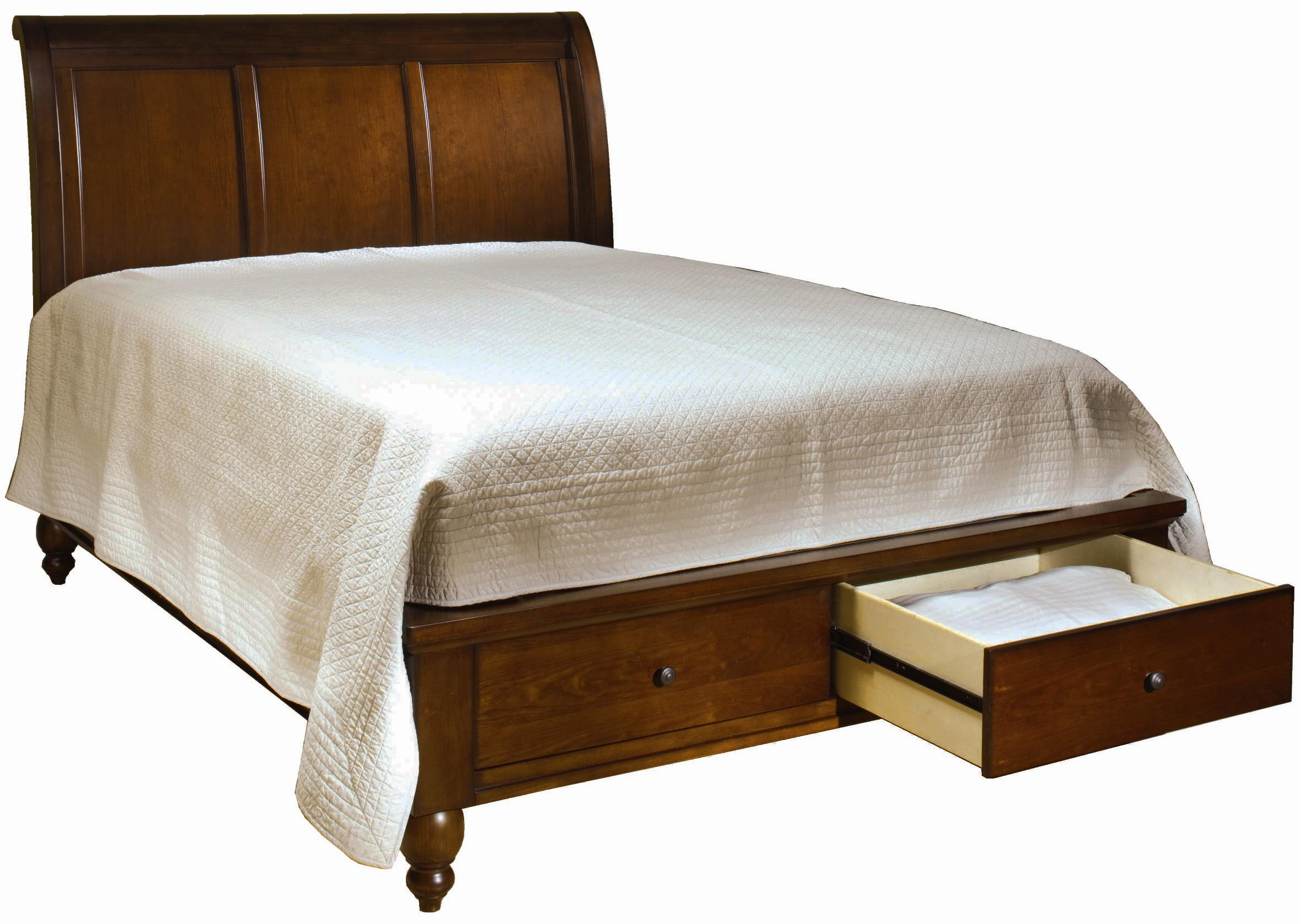 Sleigh Bed Headboard King Size Bed With Sleigh Headboard Drawer Storage Footboard By