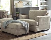Contemporary Chair and a Half & Ottoman by Benchcraft ...