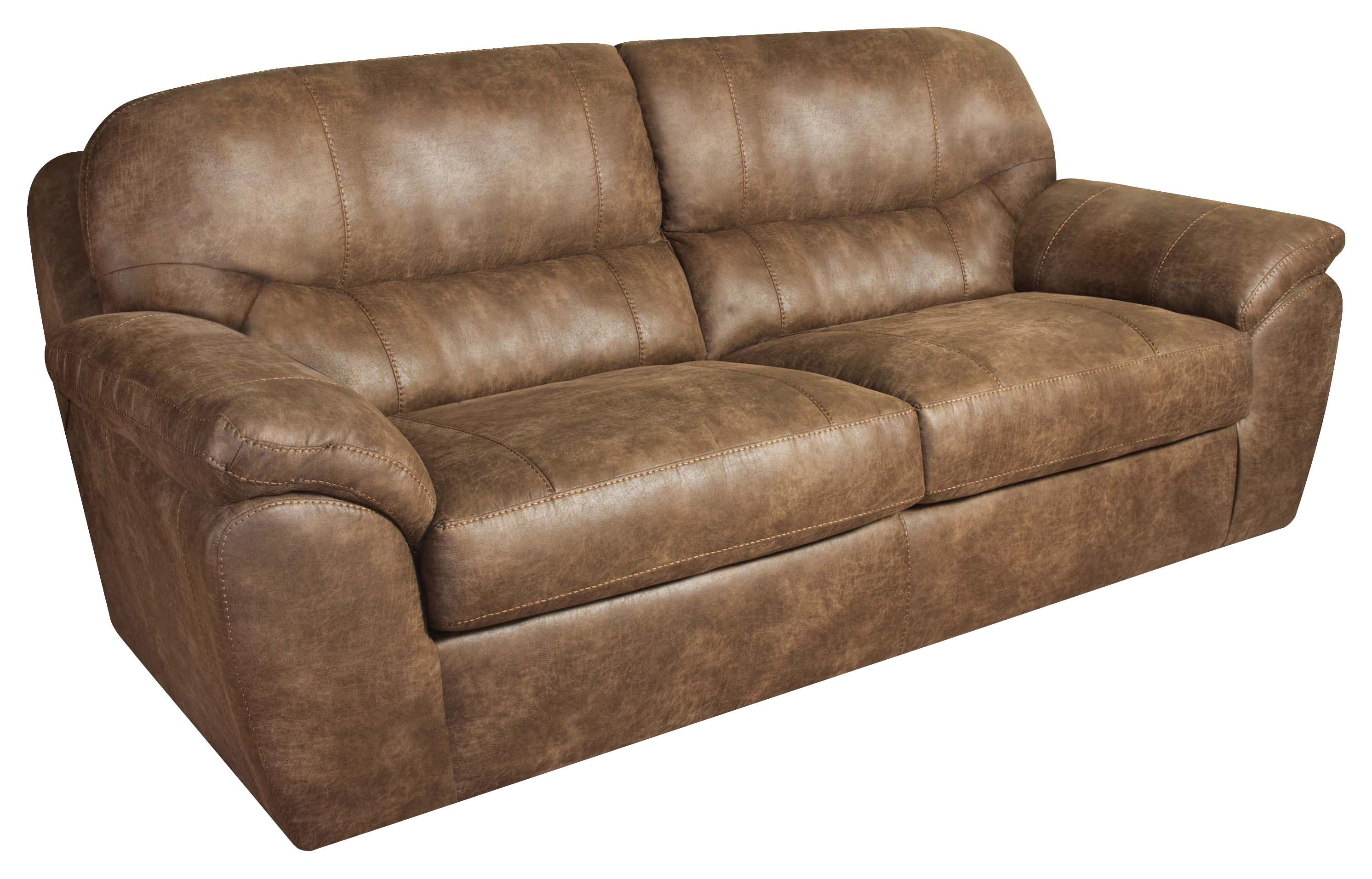 Kunstleder Couch Casual Faux Leather Plush Sofa By Corinthian | Wolf And