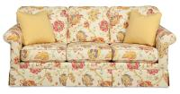 Traditional Sofa with Kick Pleat Skirt by Craftmaster ...