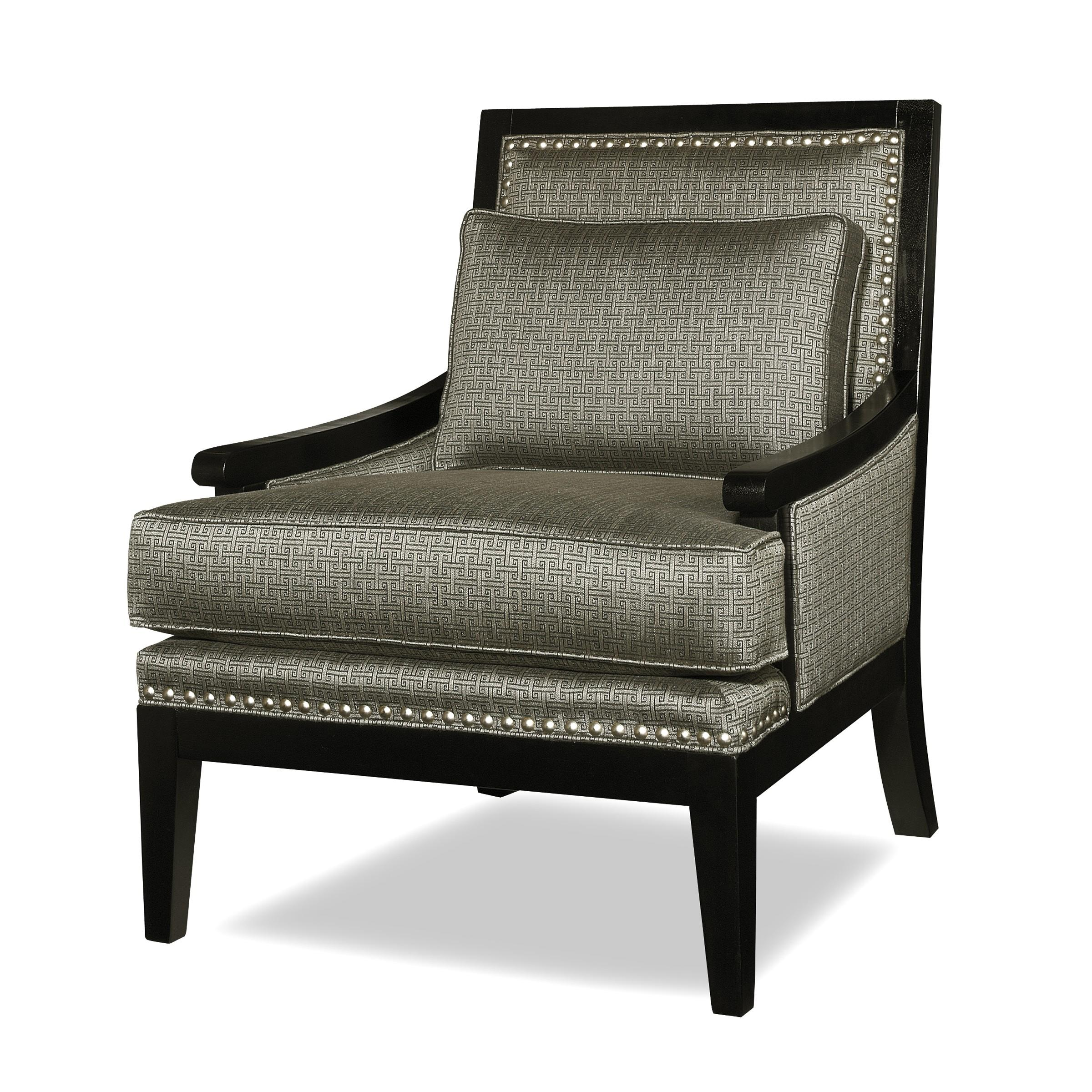 Contemporary exposed wood accent chair