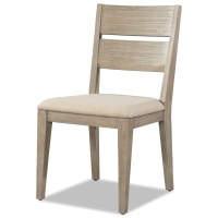 Wood Dining Chair with Upholstered Seat by Cresent Fine ...