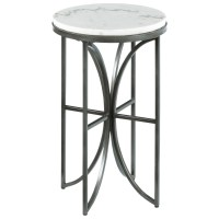 Small Round Accent Table with Marble Top by Hammary | Wolf ...