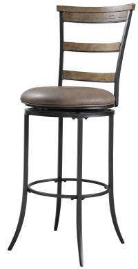 Charleston Swivel Ladder Back Bar Stool by Hillsdale ...