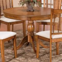 "44"" Round Single Pedestal Dining Table by Hillsdale 