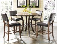 Round Wood Counter Height Table by Hillsdale | Wolf and ...
