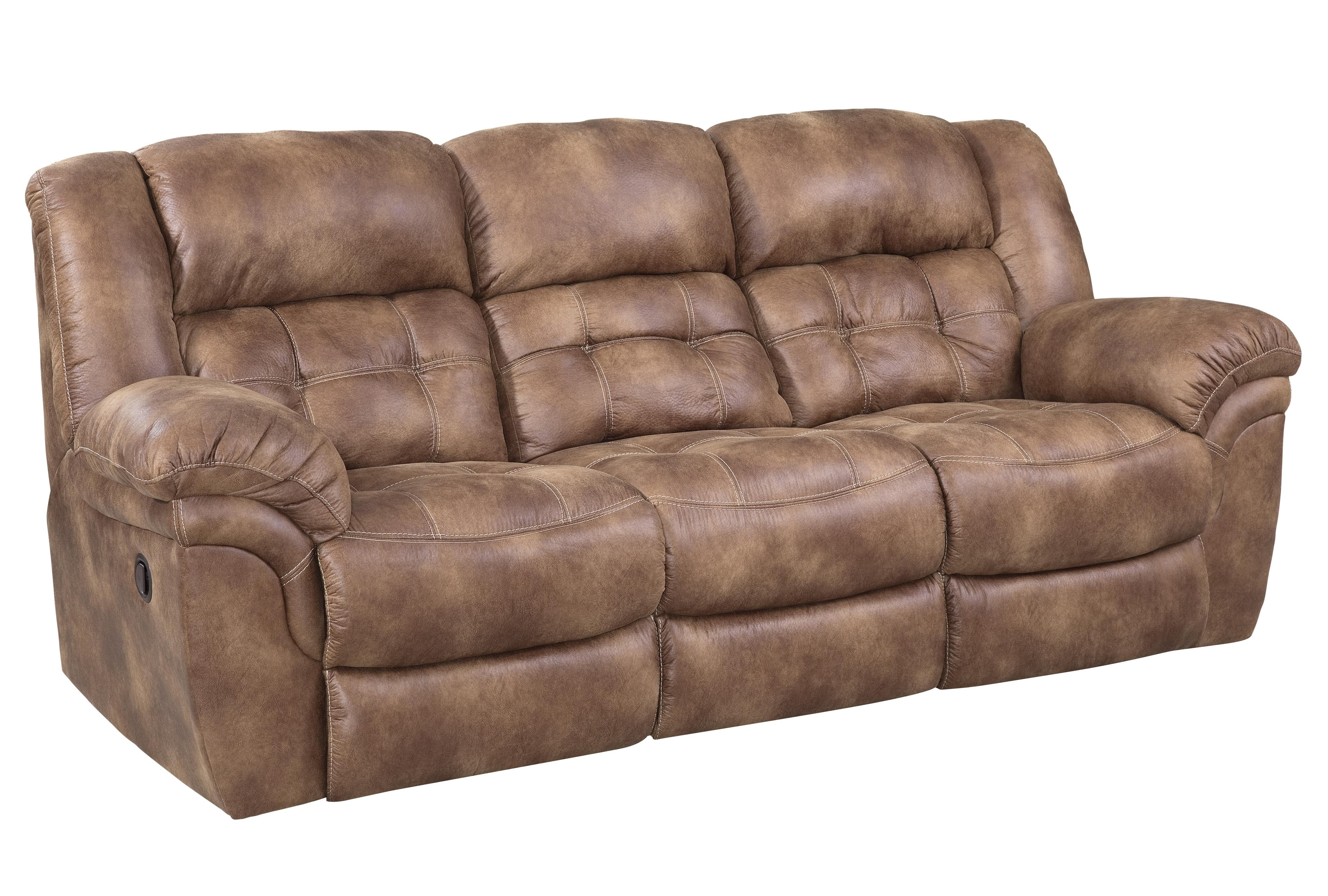 Kunstleder Couch Faux Leather Reclining Sofa By Homestretch | Wolf Furniture