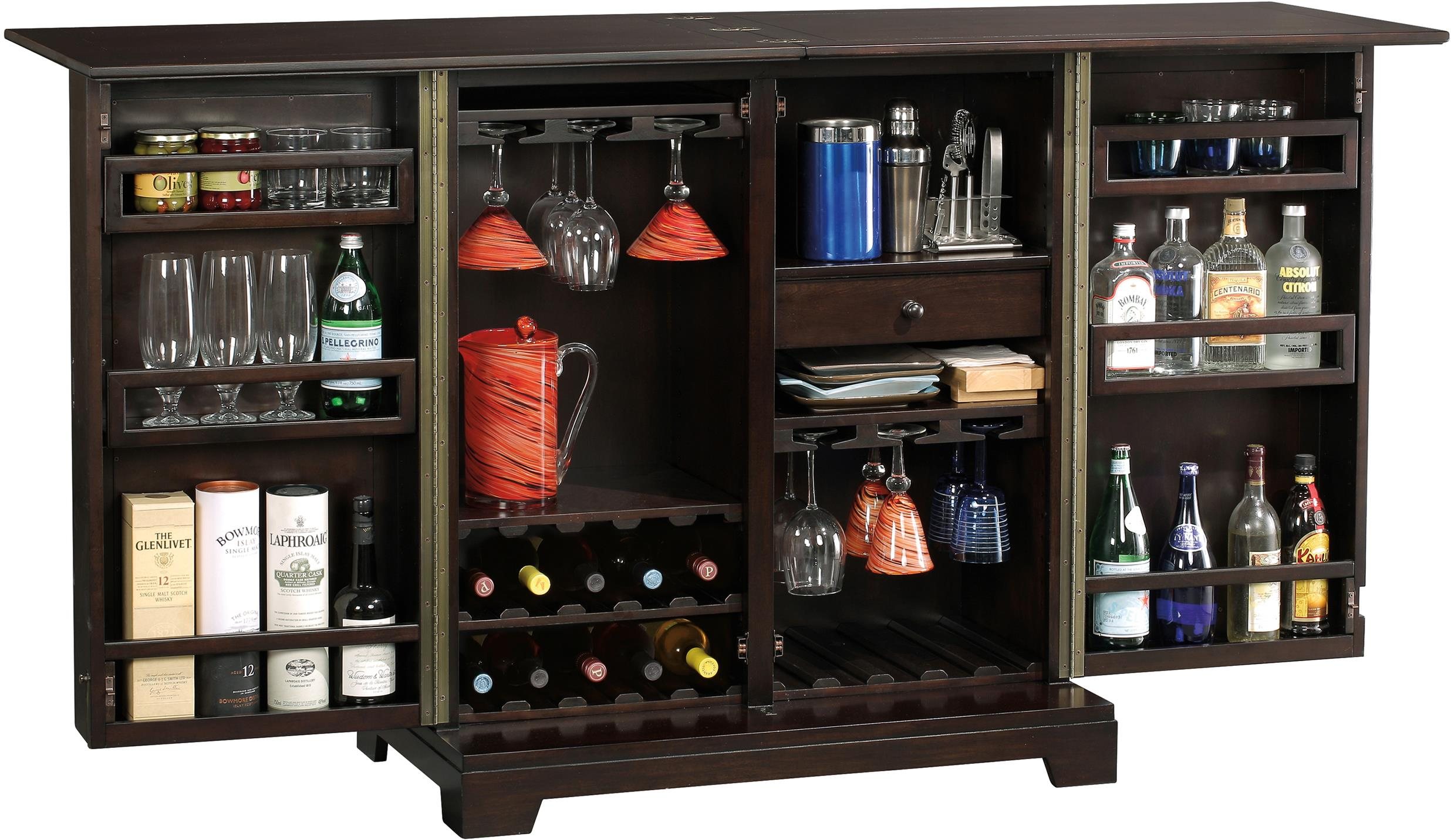 Barolo Console Wine & Bar Cabinet with Mirrored Door