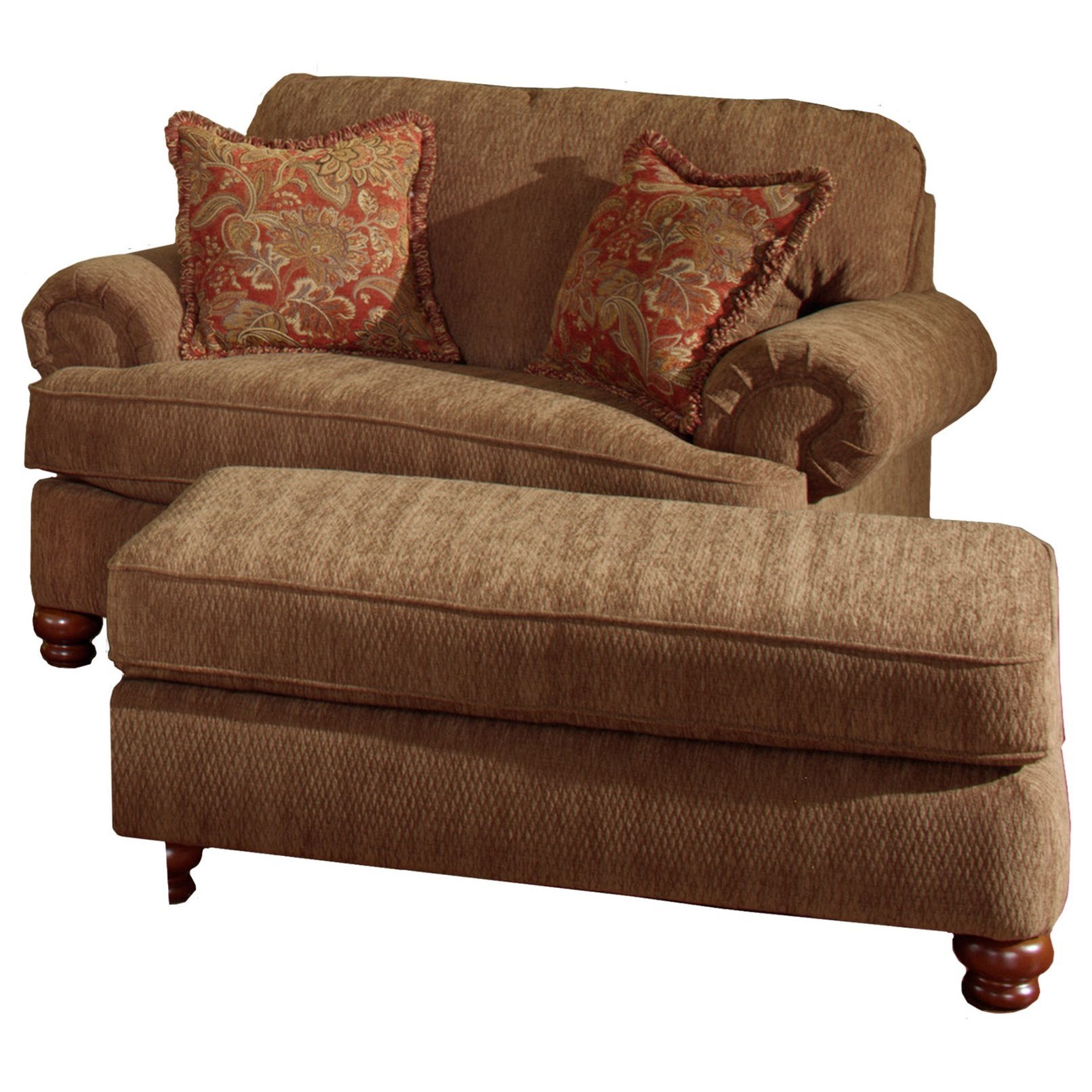 Chair and a Half & Ottoman by Jackson Furniture