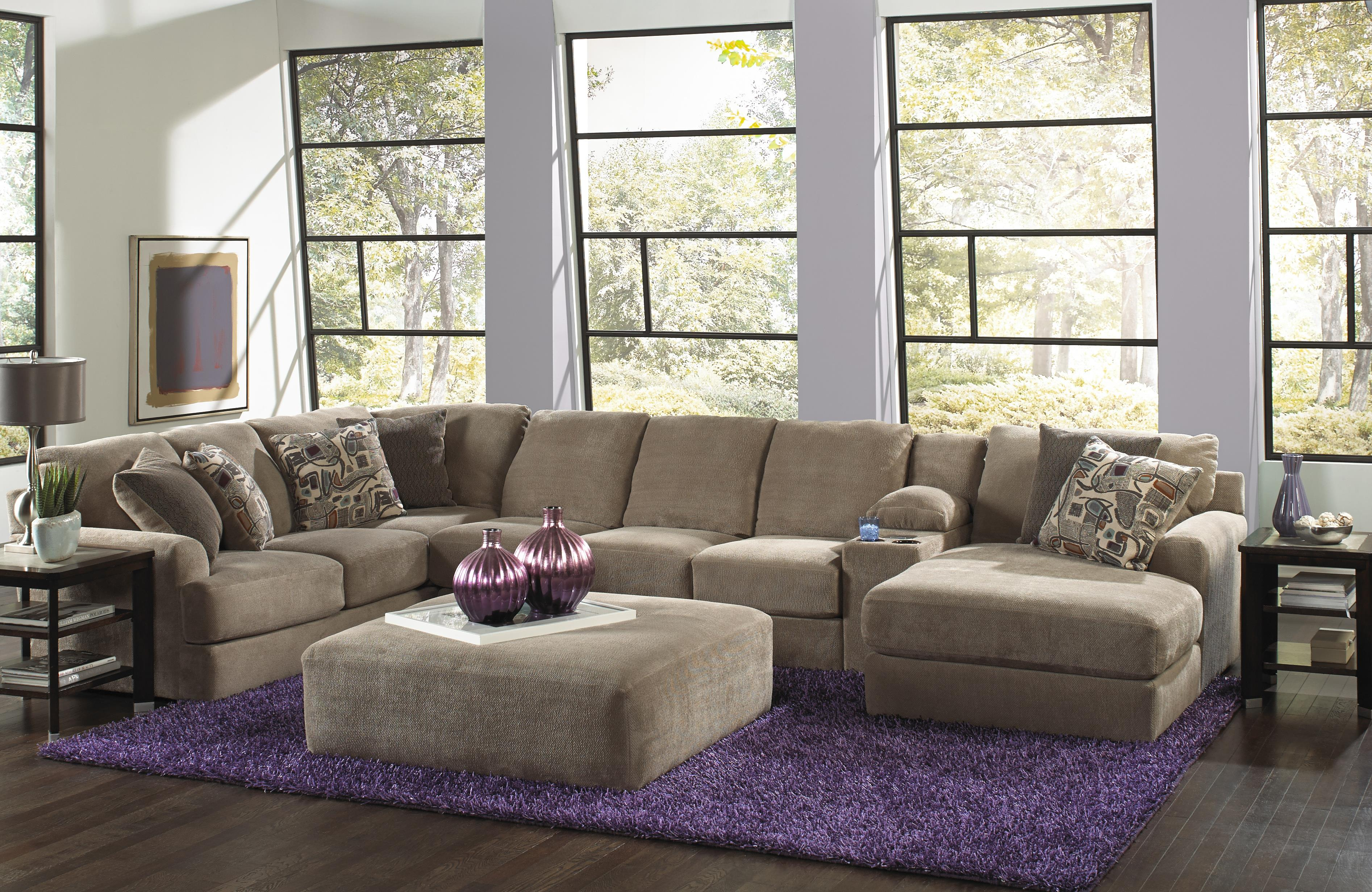 Big Sofa Sand Six Seat Sectional Sofa With Console By Jackson Furniture Wolf
