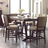 Seven Piece Counter Height Dining Set with Upholstered ...
