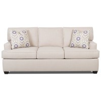 Contemporary Sleeper Sofa with Track Arms and Queen-Sized ...