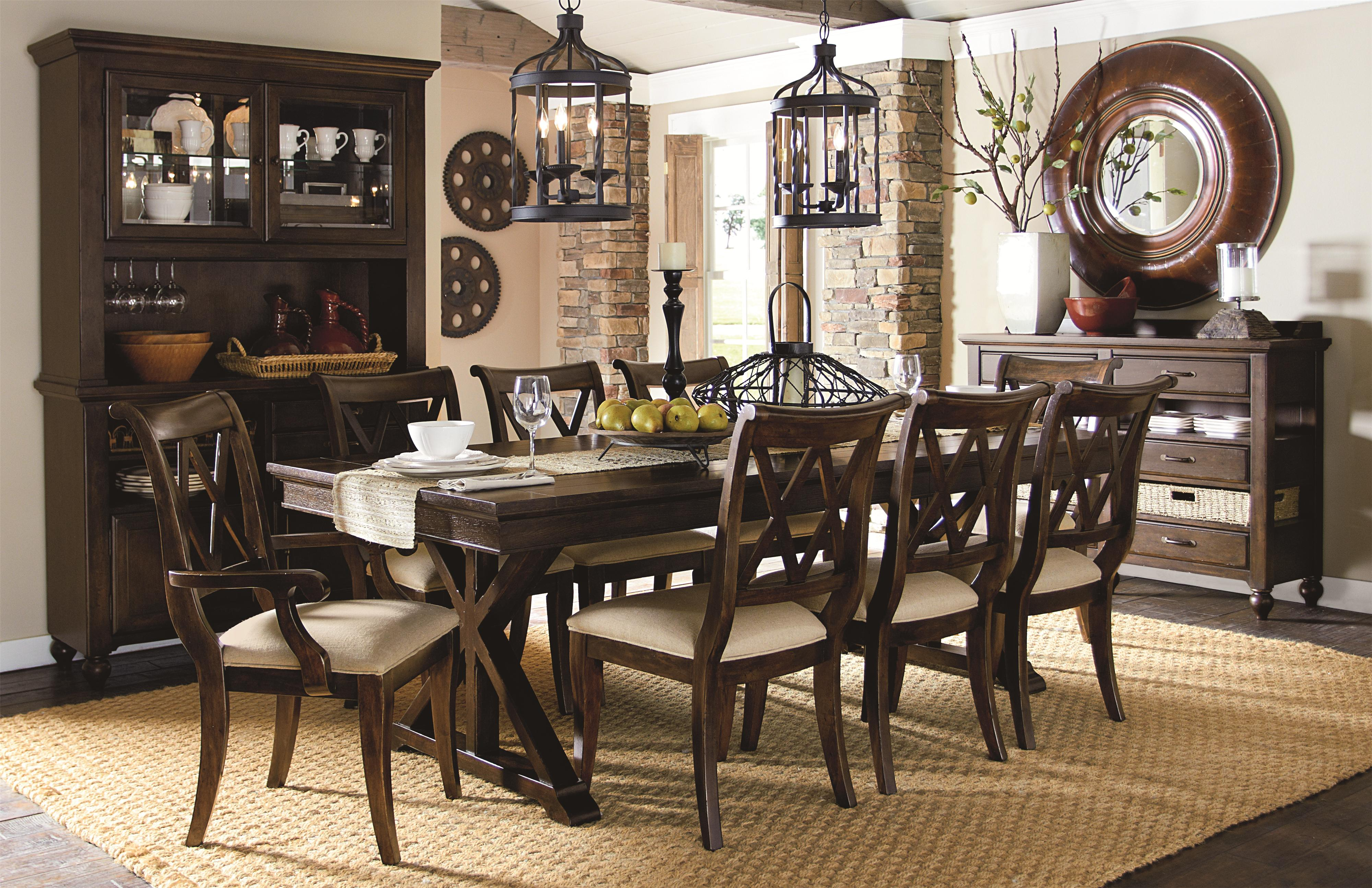 Kijiji Sofa Cornwall 9 Piece Dining Set With X Back Chairs By Legacy Classic Wolf