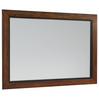 Rustic Industrial Wood Framed Mirror with Milk Crate ...