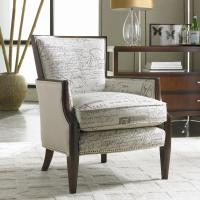 Upholstered Exposed Wood Accent Chair by Sam Moore | Wolf ...