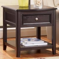 Rectangular End Table with Drawer and Bottom Shelf by ...