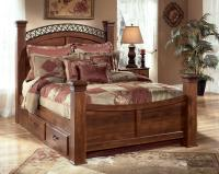 King Poster Bed with Underbed Storage by Signature Design ...