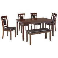 Contemporary 6-Piece Dining Room Table Set with Bench by ...