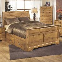 Queen Sleigh Bed with Under Bed Storage by Signature ...