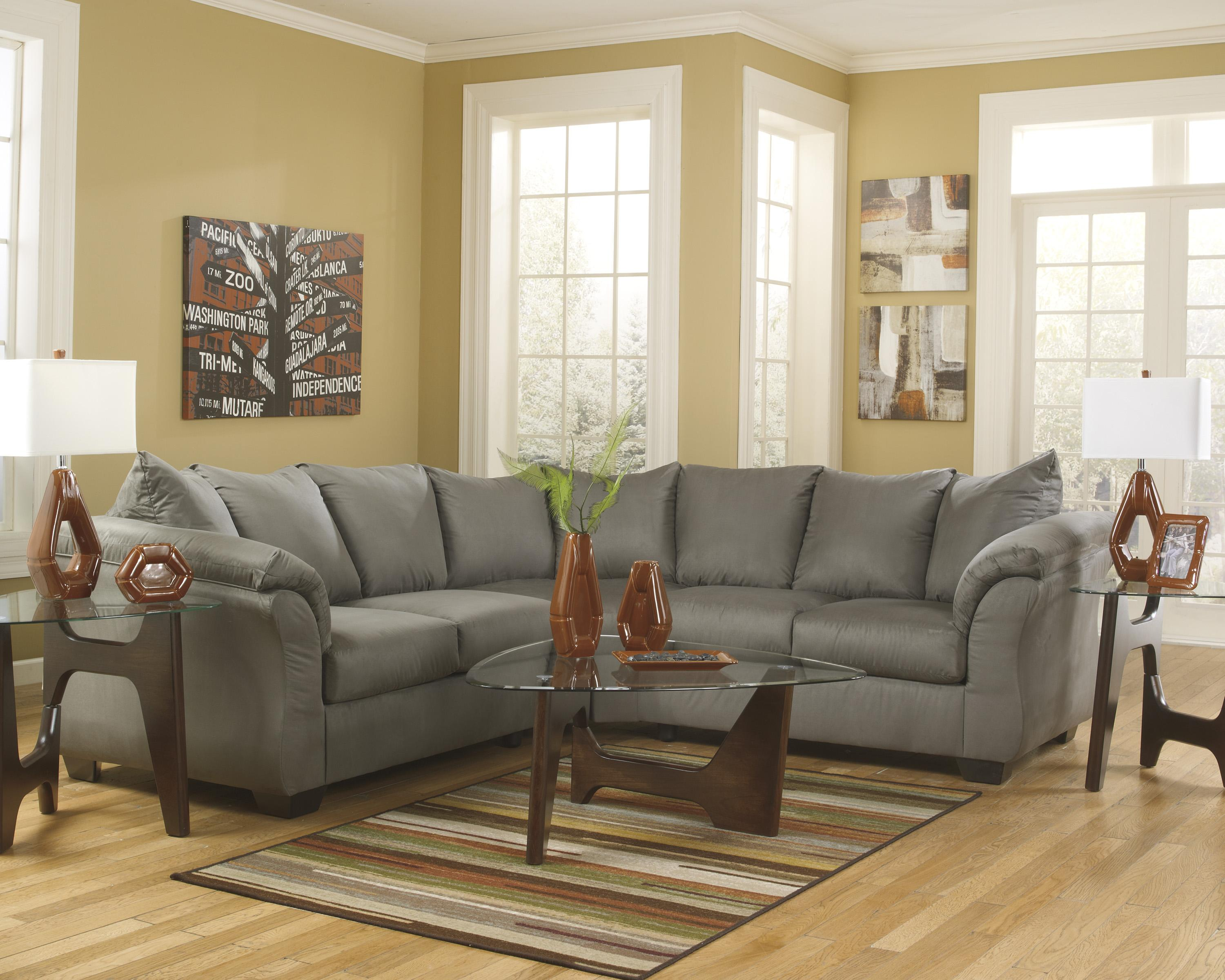 Sofa Outlets Exeter Contemporary Sectional Sofa With Sweeping Pillow Arms By Signature