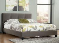 King Upholstered Platform Bed with Channel Tufted ...