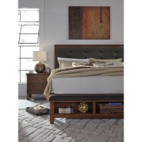 Queen Upholstered Bed with Bench Storage Footboard by ...