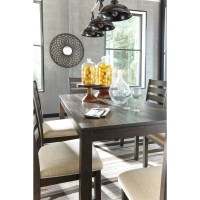 Contemporary 7-Piece Dining Room Table Set by Signature ...