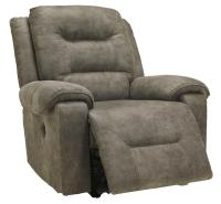Contemporary Manual Rocker Recliner with Pillow Arms by ...