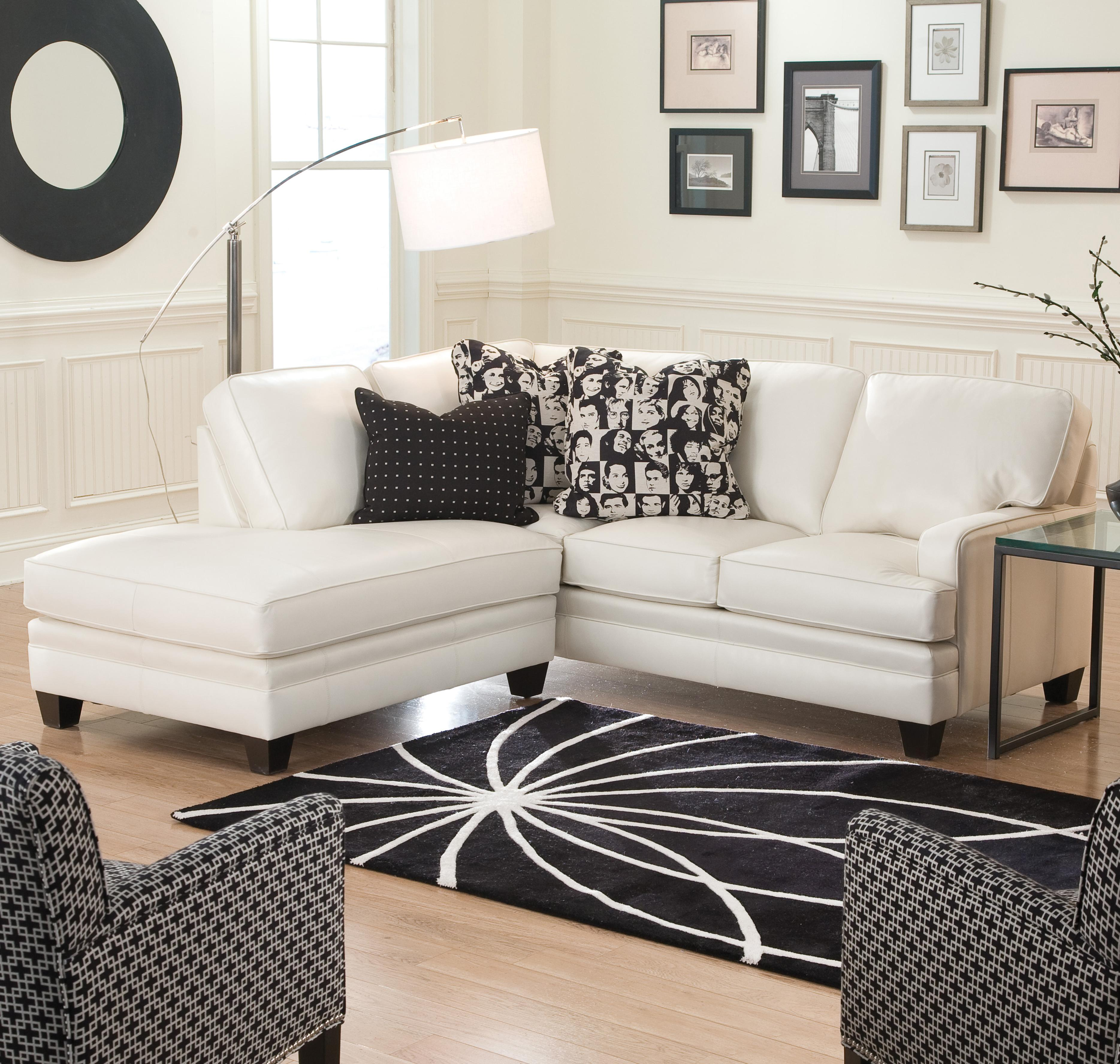 Small Sectional Sofa with Contemporary Look by Smith