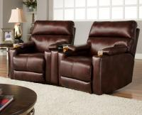 Theater Seating Group with 2 Wall Recliners and Cup ...