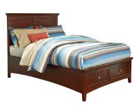 Casual Twin Bed with Storage Footboard by Standard ...