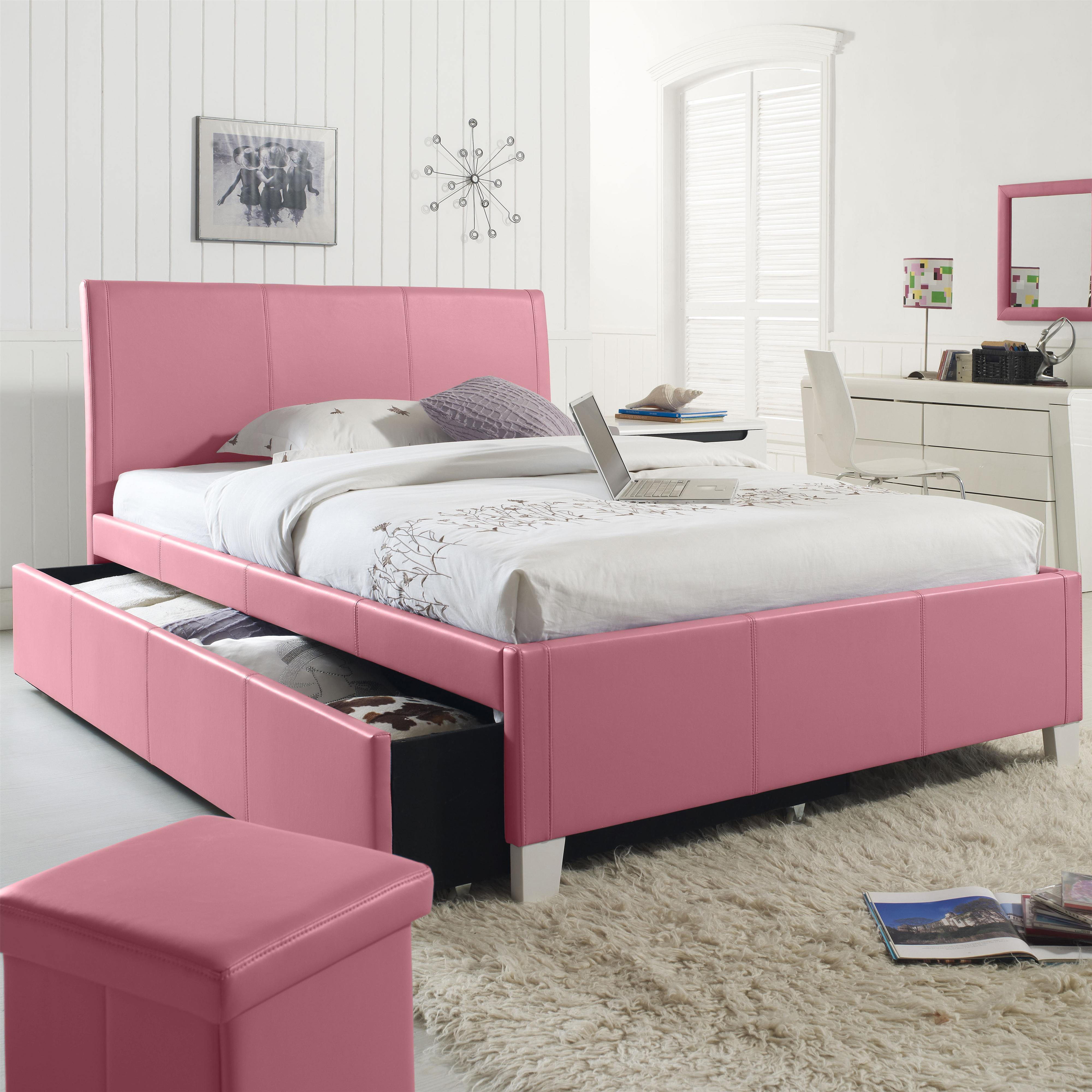 Kids Queen Bed Twin Upholstered Youth Trundle Bed By Standard Furniture Wolf