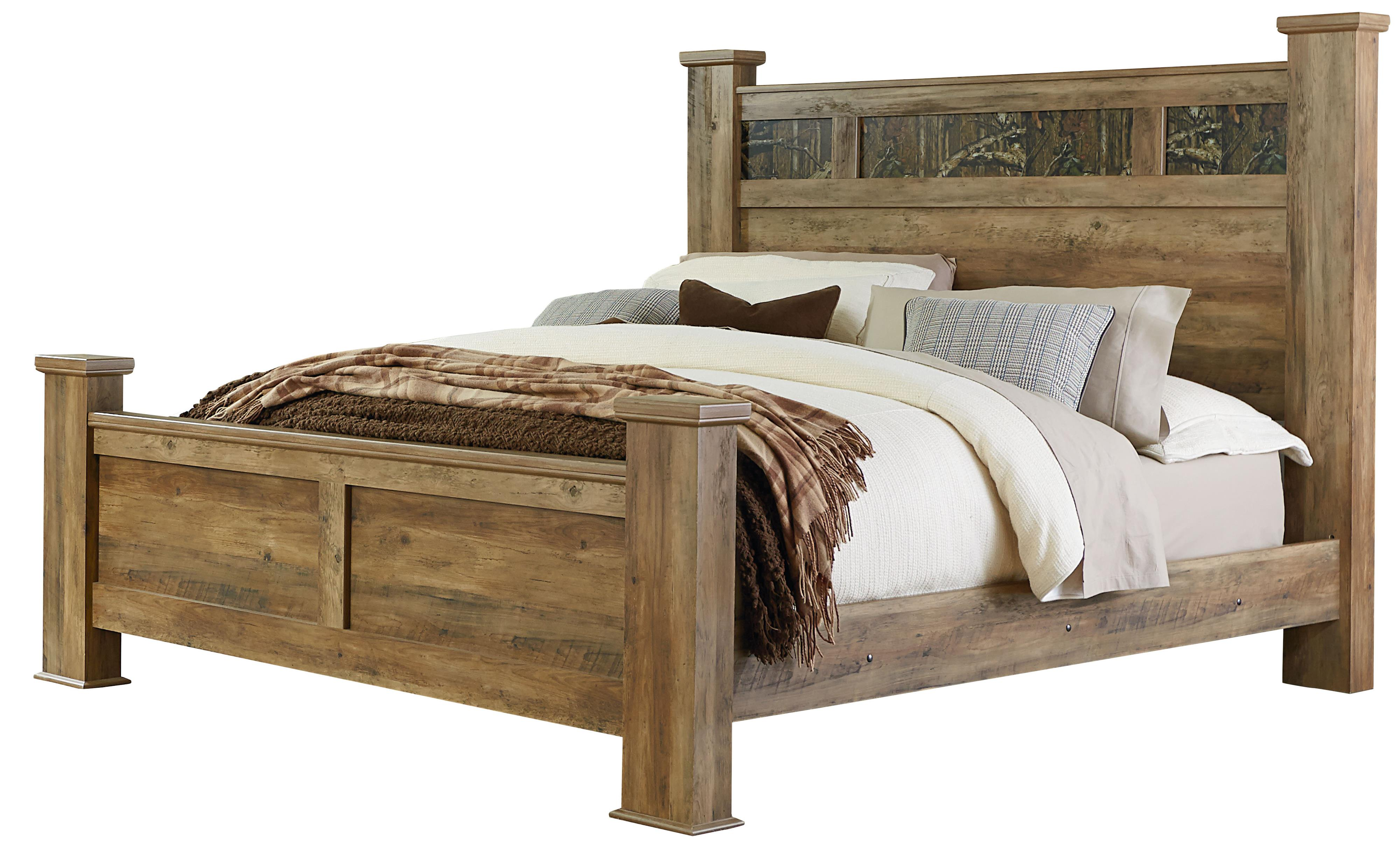 King Bed With Posts King Bed With Oversized Square Posts By Standard Furniture Wolf