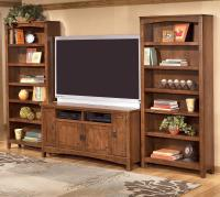 60 Inch TV Stand & 2 Large Bookcases by Ashley Furniture ...