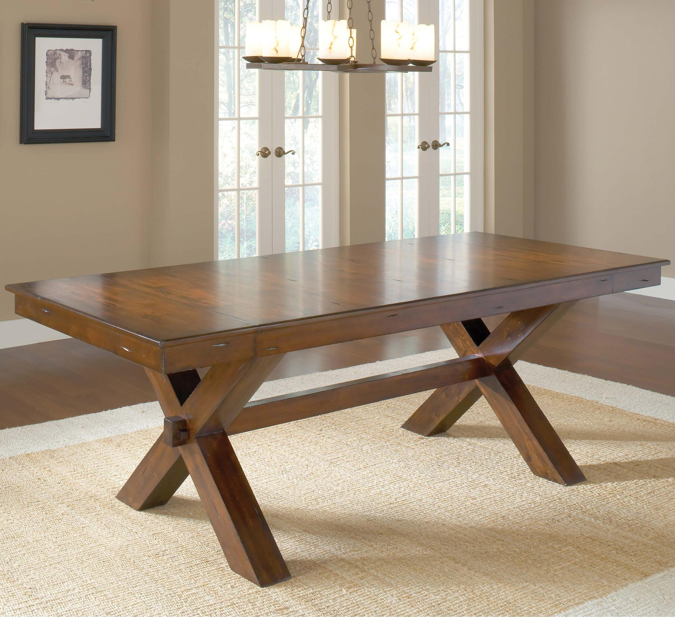 Building A Dining Room Table With Leaves Trestle Dining Table W 2 Leaves By Hillsdale Wolf And