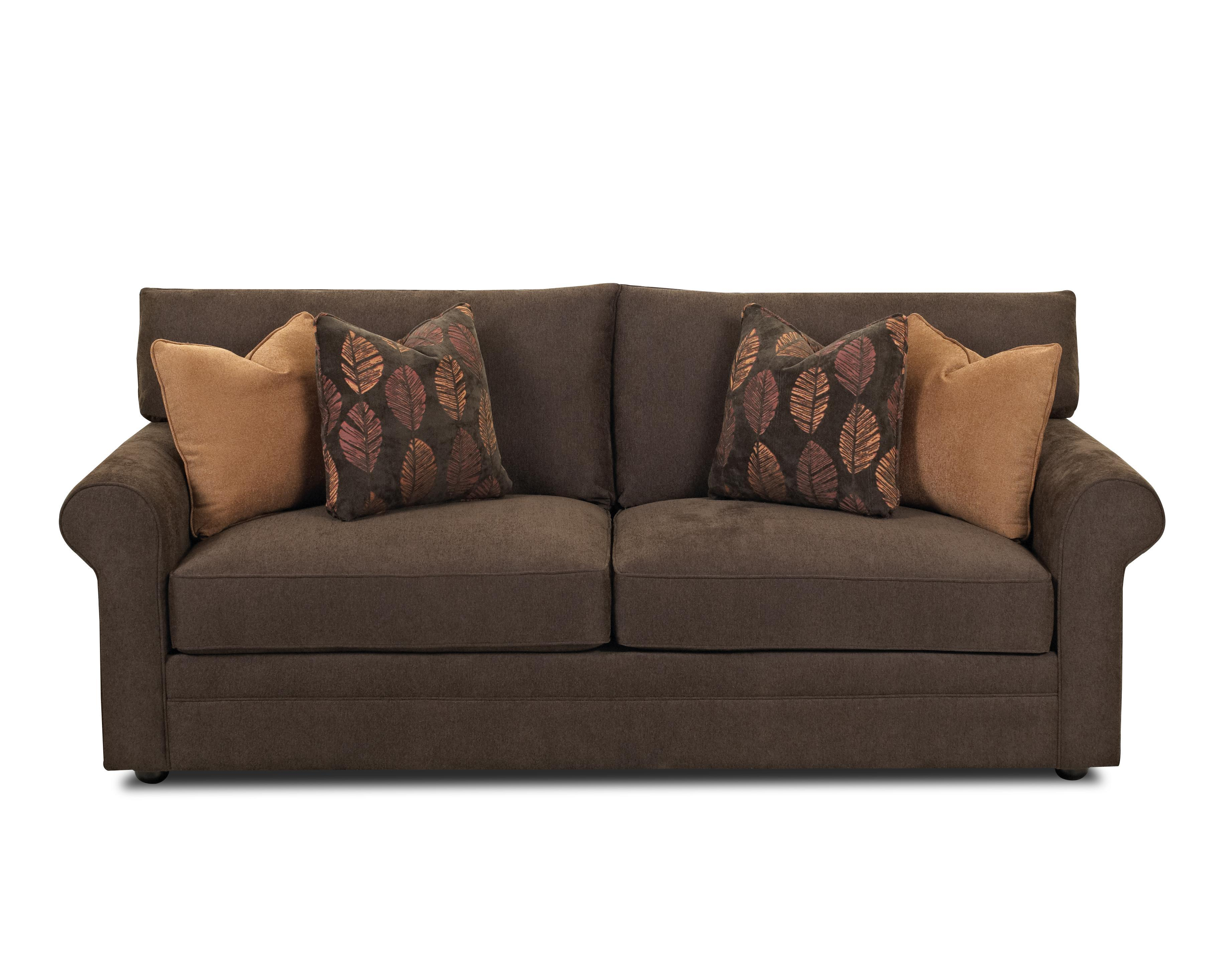 Sofa Welt Casual Stationary Sofa With Rolled Arms Unattached Back