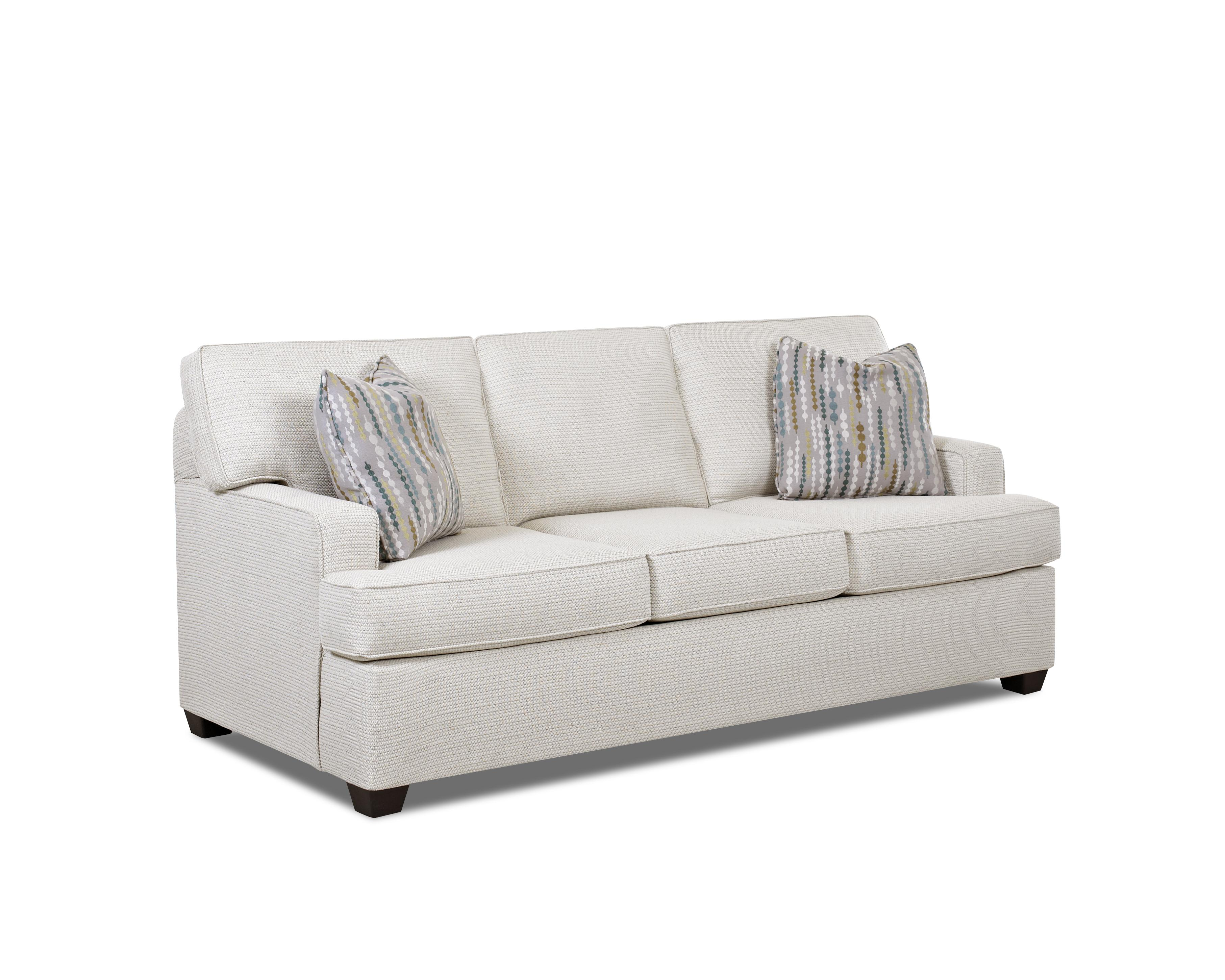 Sofa Welt Contemporary Stationary Sofa With Track Arms And T
