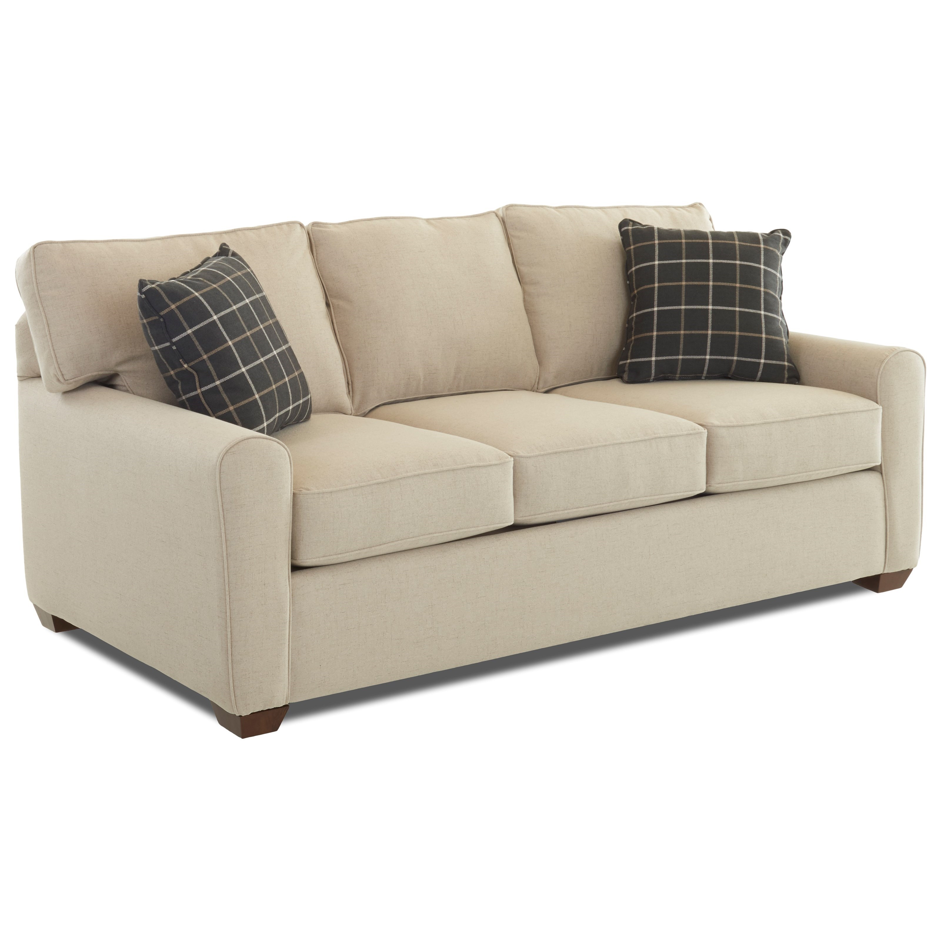 Sofa Welt Casual Stationary Sofa With Box Seat Cushions And Welt