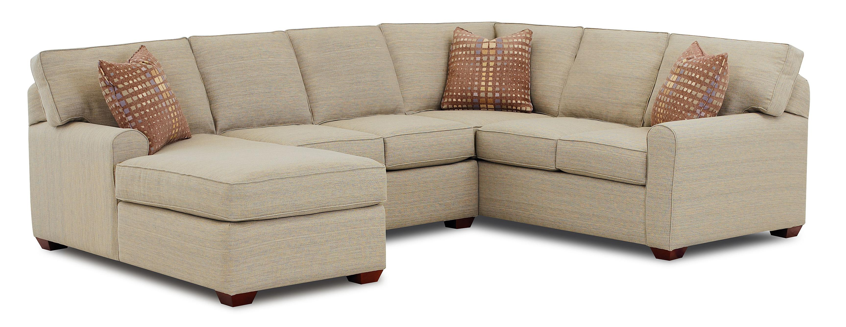Lounge Sofa Depth Sectional Sofa With Left Facing Chaise Lounge By Klaussner