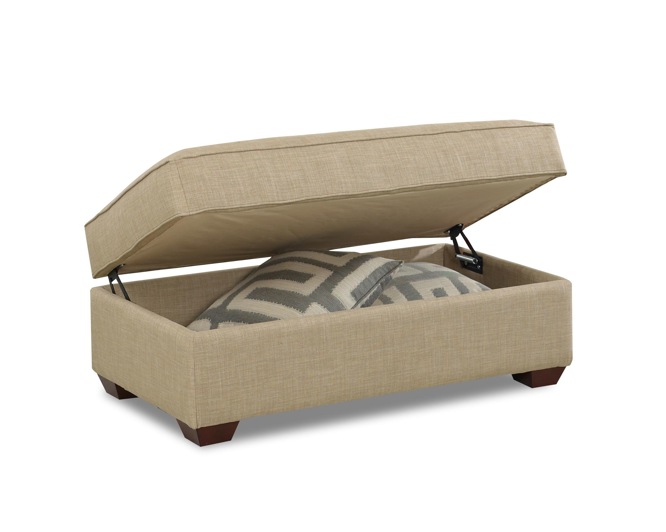 Storage Pouf Contemporary Storage Ottoman By Klaussner Wolf And