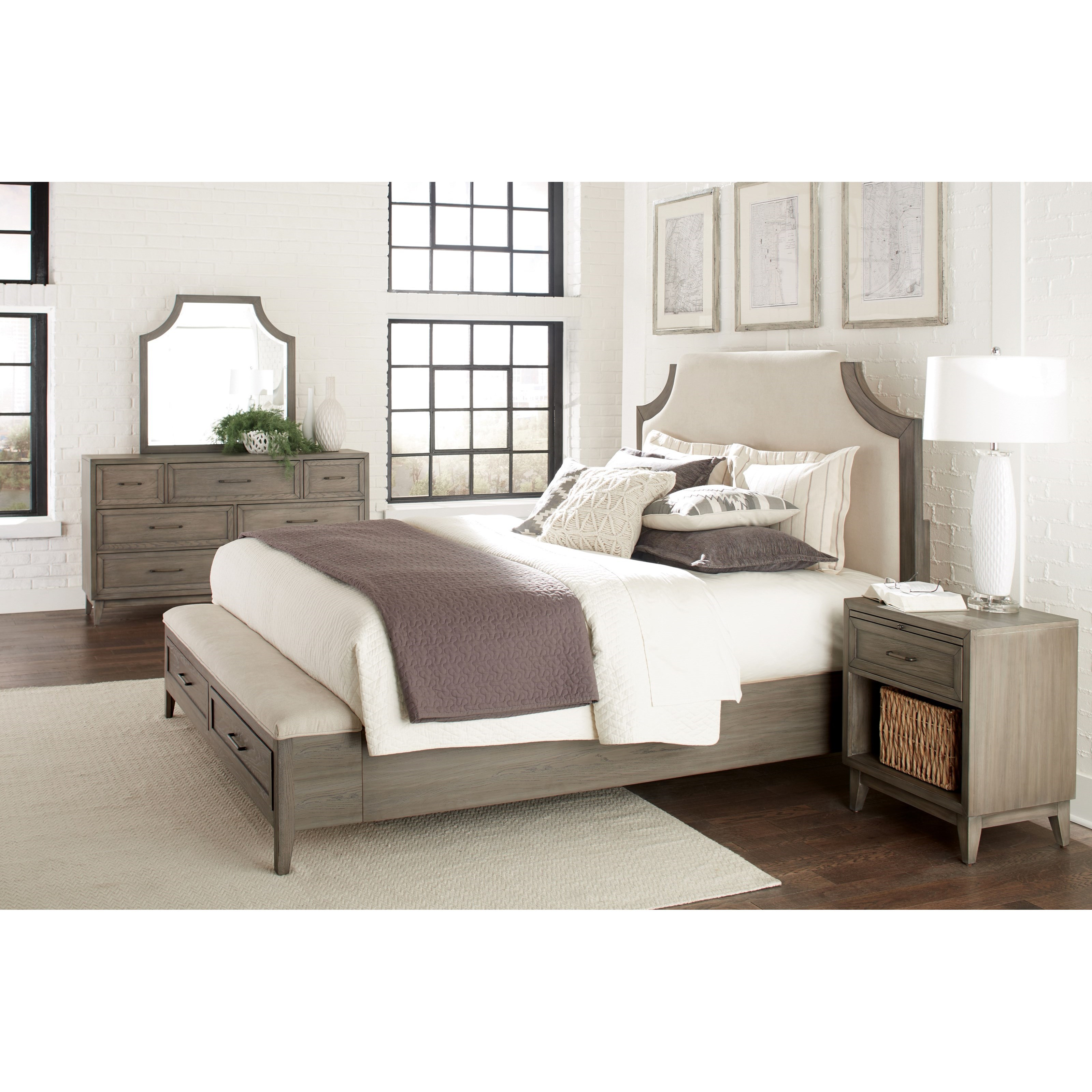 Bedroom Bench King Bed Queen Upholstered Bed With Storage Bench Footboard By