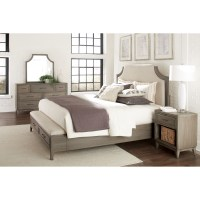 Queen Upholstered Bed with Storage Bench Footboard by ...