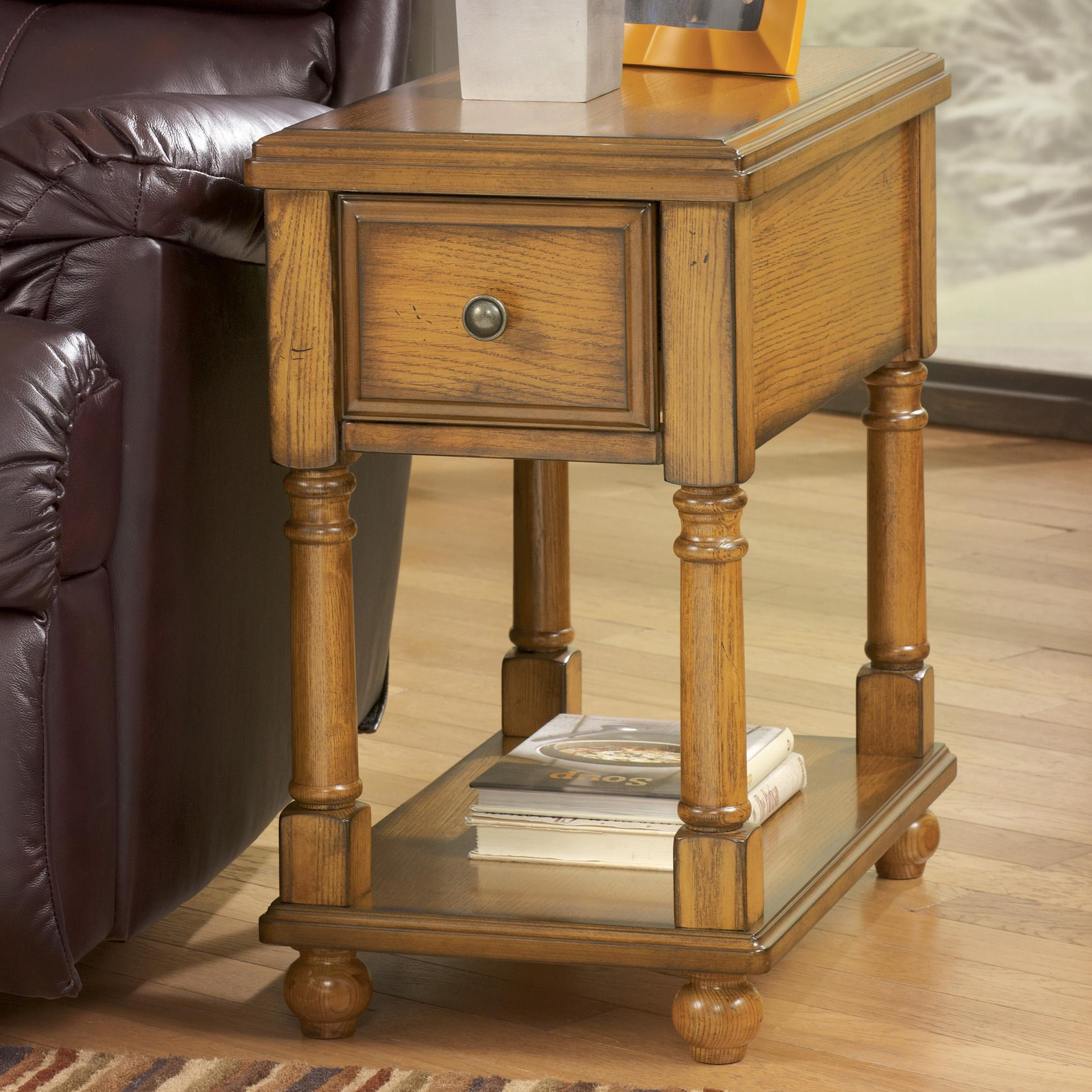 Modern Chairside Table Contemporary Brown Holfield Chairside End Table With