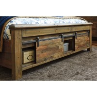 California King Panel Storage Bed with Barn Doors by ...