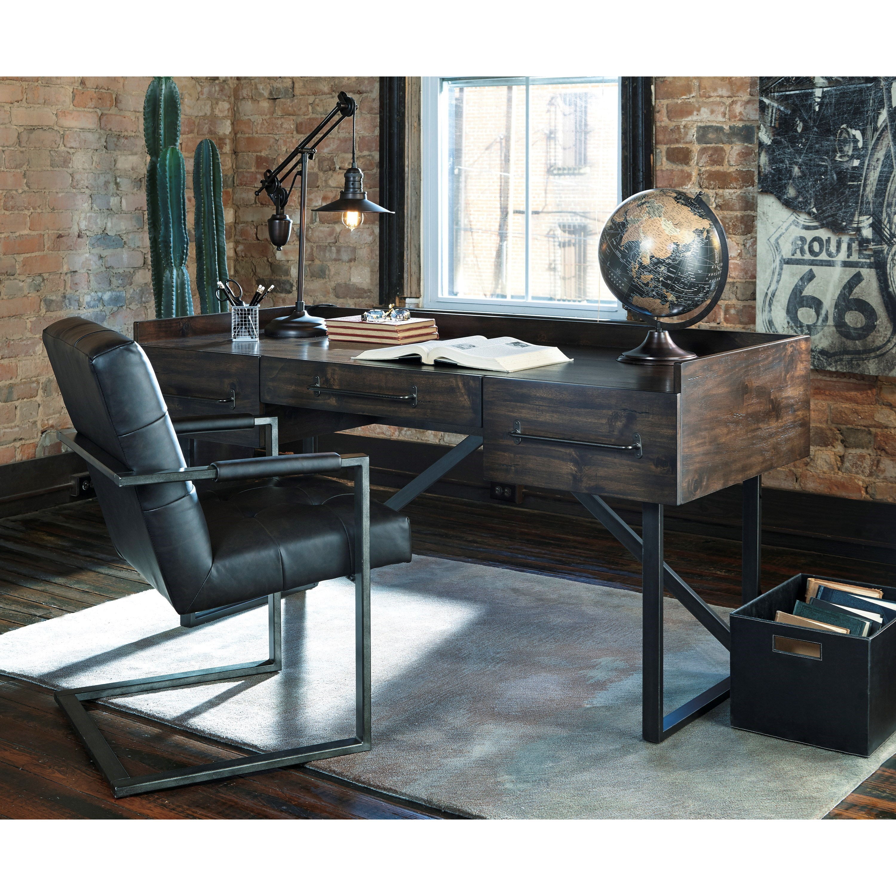 Modern Industrial Chair Modern Rustic Industrial Home Office Desk With Steel Base