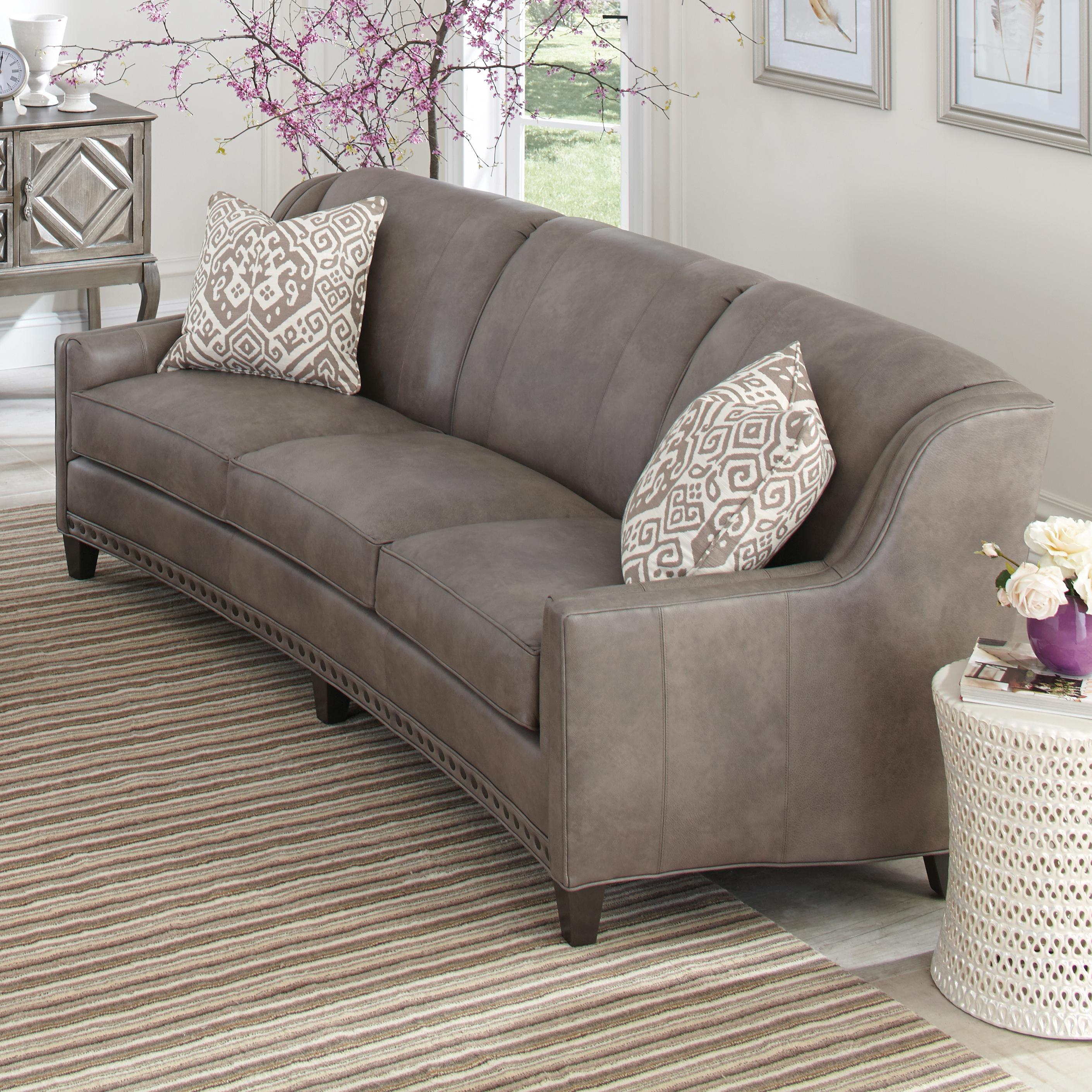 Amazon Sofa Rund Slightly Curved Sofa With Sloping Track Arms And Nail Head