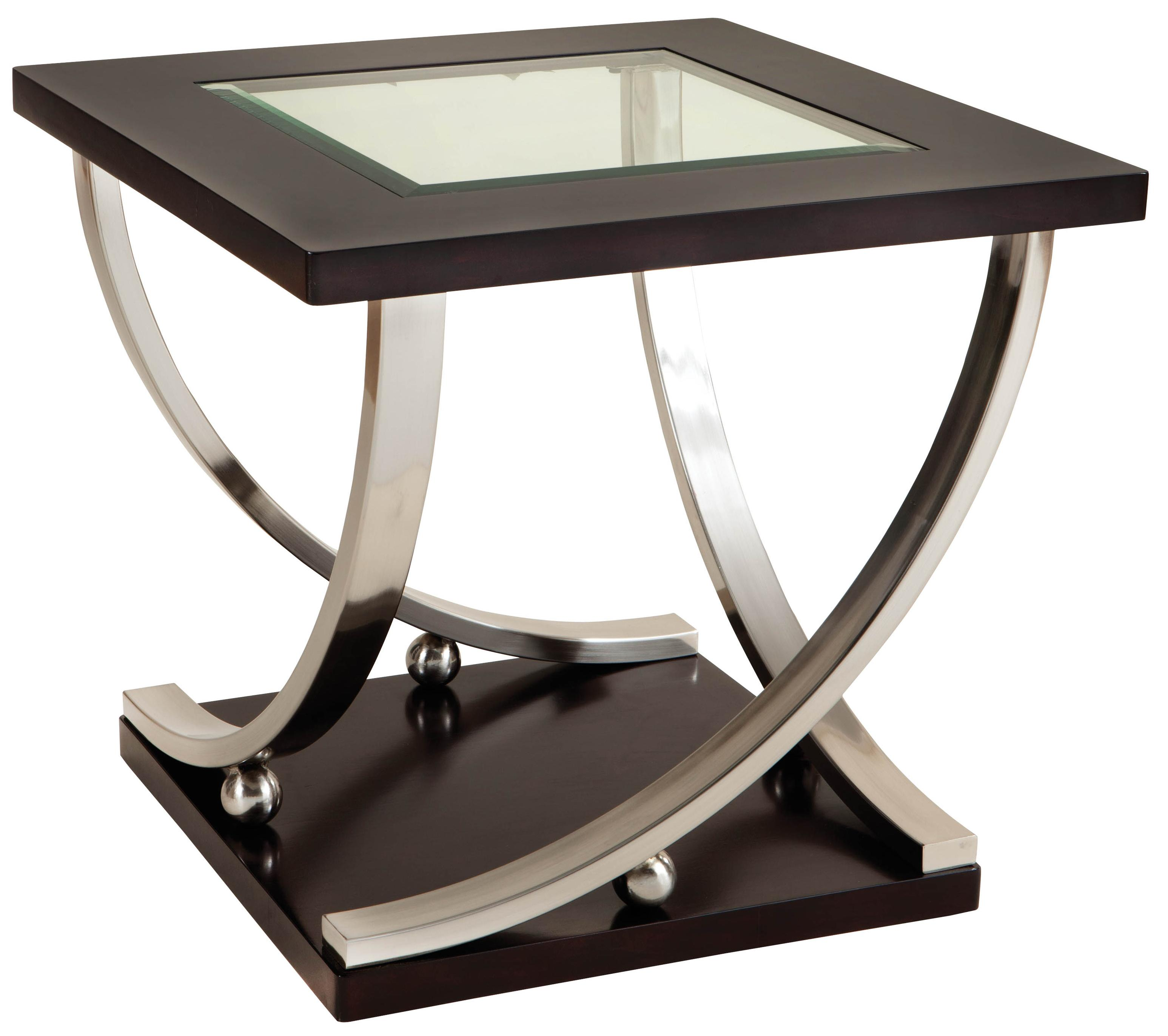 Side Table Glas Square End Table With Glass Table Top By Standard