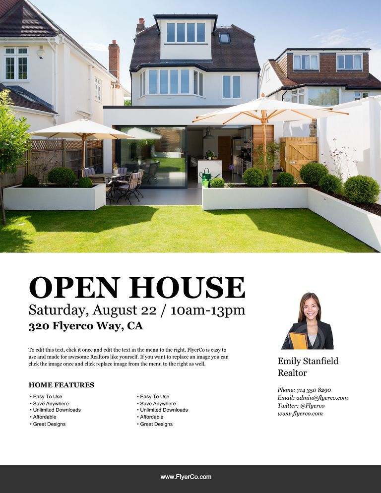Open House Flyers 21 open house flyer designs psd download – Open House Flyers